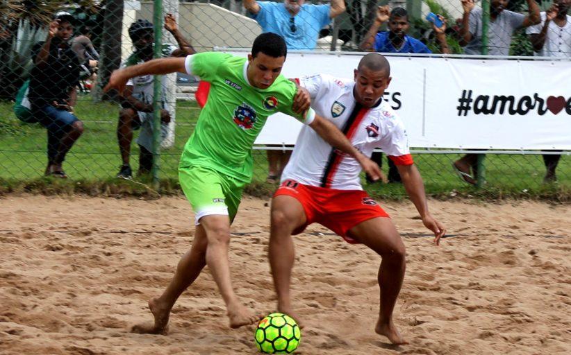 Serra x Anchieta e Vitória x Viana são as semifinais do 17º Estadual de Beach Soccer