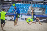 Brasil encara Suíça no Desafio Internacional na praia do Gonzaga, em Santos
