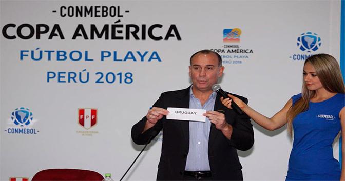 Definidas as chaves da Copa América de Beach Soccer 2018, em março, no Peru